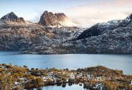 Neal Pritchard: A landscape view of snow capped Cradle Mountain in Tasmania