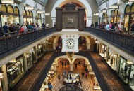 Queen Victoria building, an iconic shopping centre in Sydney's CBD