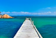 Neal Pritchard: A photo of a jetty on Coles Bay in Tasmania