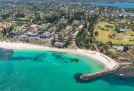 Neal Pritchard: An aerial shot of Cottesloe with the Swan River in the background