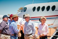 Neal Pritchard: Julie Bishop with foreign dignitaries in Australia's outback