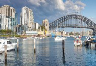 Neal Pritchard: A view towards the Sydney Harbour Bridge from Lavendar Bay