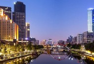 Neal Pritchard: A view of the Yarra River and Melbourne city skyline