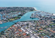Neal Pritchard: An aerial shot of coastal Mandurah in Perth, Western Australia